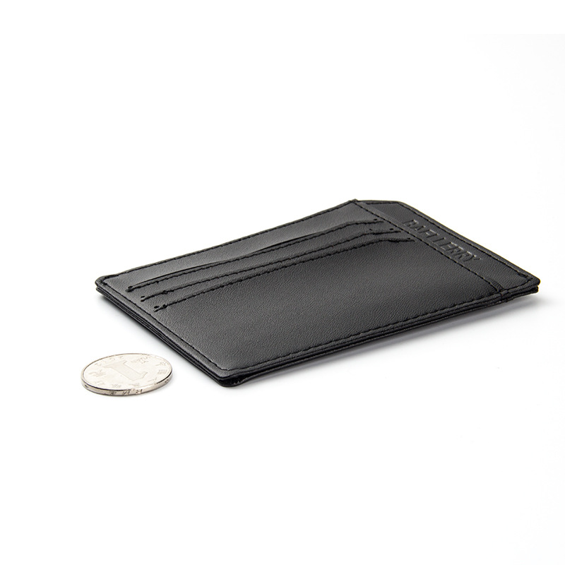 Fashion Solid PU Leather Credit Card Holder Slim Wallet Men Luxury ...