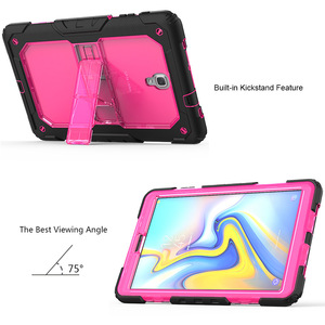 Image 2 - Case For Samsung Galaxy Tab A A2 10.5 2018 T590 T595 Heavy Duty Shockproof Kids Stand Case Cover SM T590 SM T595 Shoulder Strap