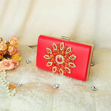 Sunflower Diamond Evening Bags Red Crystal Clutch Bag 2017 Women Bag purses and handbags wedding wallets purple bolsa clutches