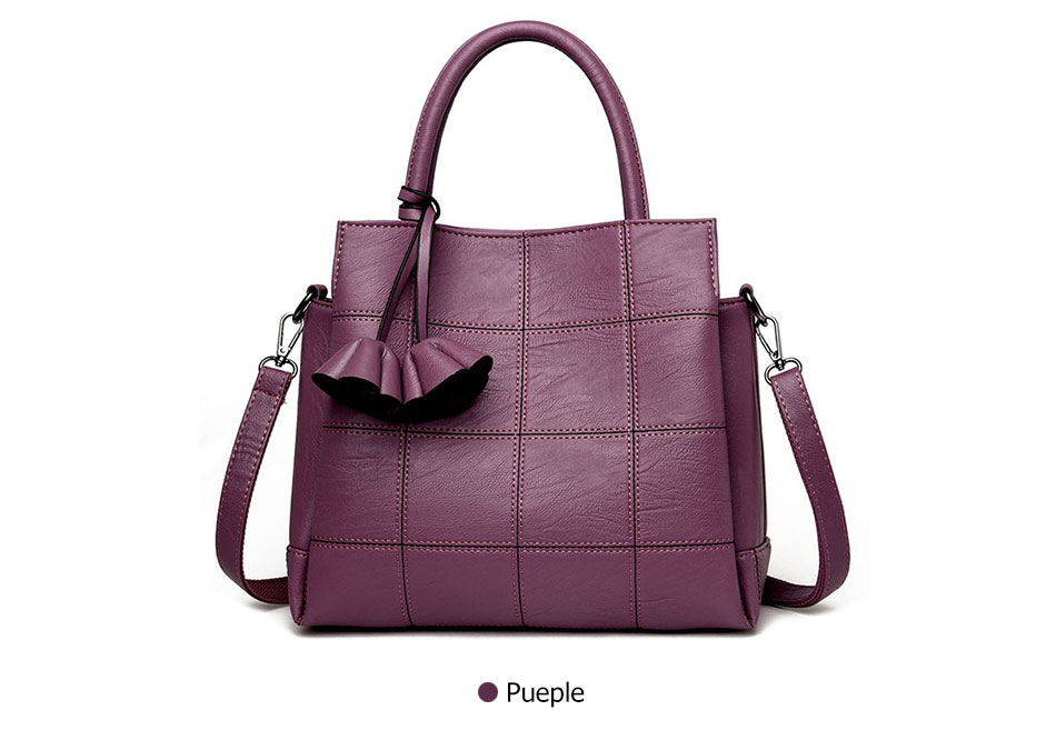 Fashion Luxury Leather Designer Rose Female Shoulder Bag