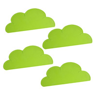 Cloud Shaped Table Mat Plate Mat Set Home Kitchen Pads,BPA Free Kuke 4 pieces 47x27cm Silicone Placemat Plate