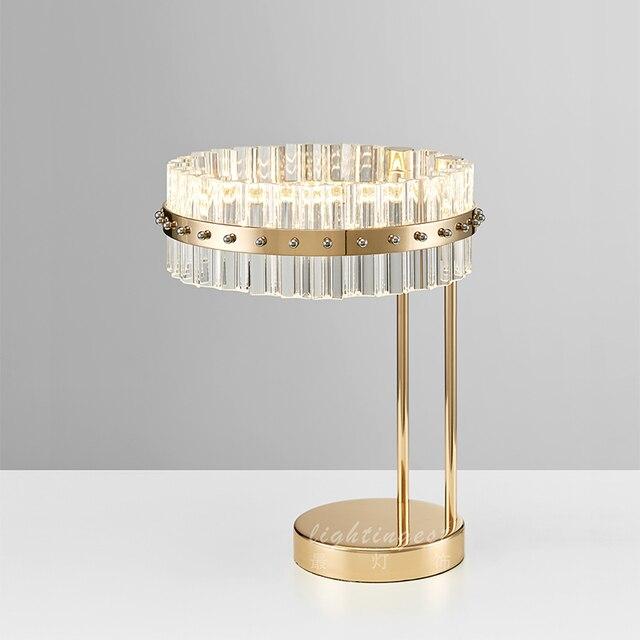 Schon Moderne Ring Luxus Kristall Tischlampen Villen Clubs Wohnzimmer Schlafzimmer  Dekorative Tischlampe Licht ZA814580