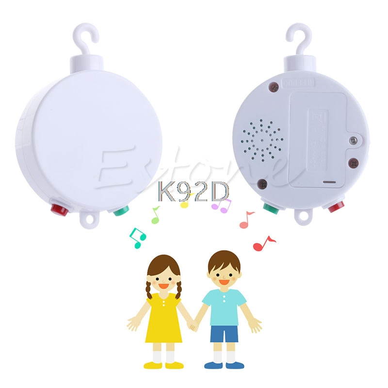 35 Melodies Song Rotary Baby Mobile Crib Bed Toy Clockwork Movement Music Box Infant Bell J05 infant toys plush bed wind chimes crib hanging bells mechanical music box mobile bed bell toy holder