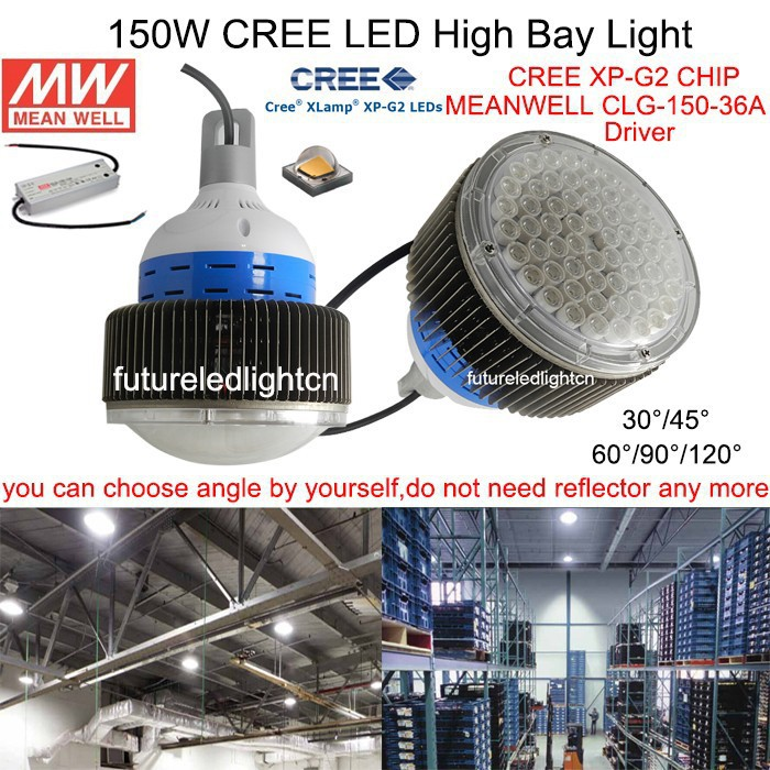 Hot sale! 150W CREE LED High bay light, led industrial factory light, cree chip, MeanWell driver, 120lm/W, CE ROHS PSE FCC UL GS 1pcs 50w 100w 150w led high bay light 150w led industrial lamp for sewing machine light factory warehouse stadium workshop