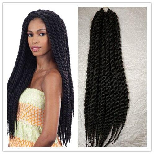 Natural Jumbo Twist 2x Freetress Equal Cuban Crochet Bulk Braiding Hair Extensions 24 Synthetic