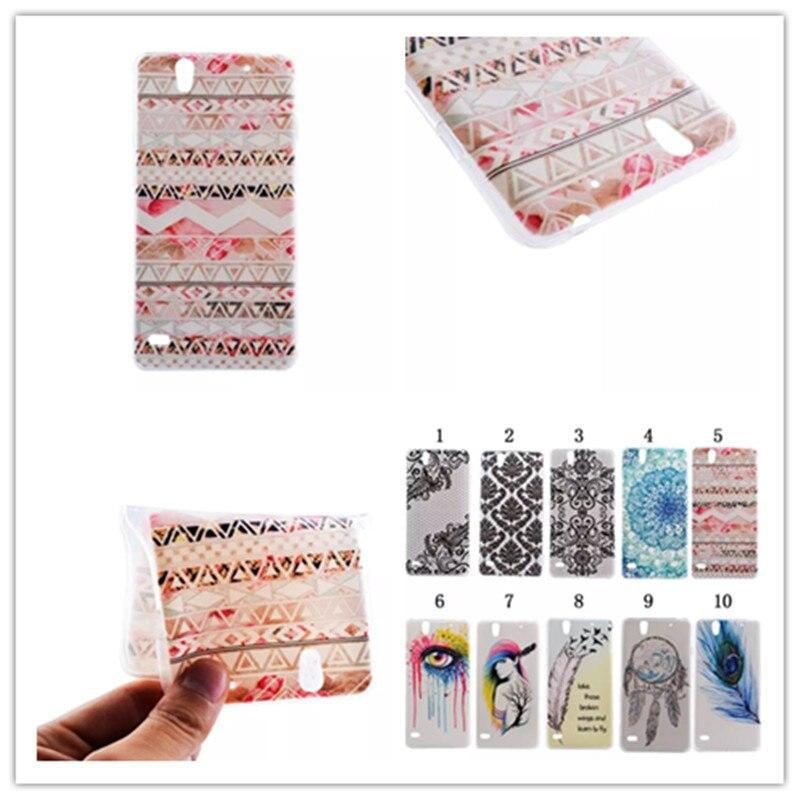 Moda frescas ultrafina dibujo coloreado diseño TPU suave teléfonos móviles caso