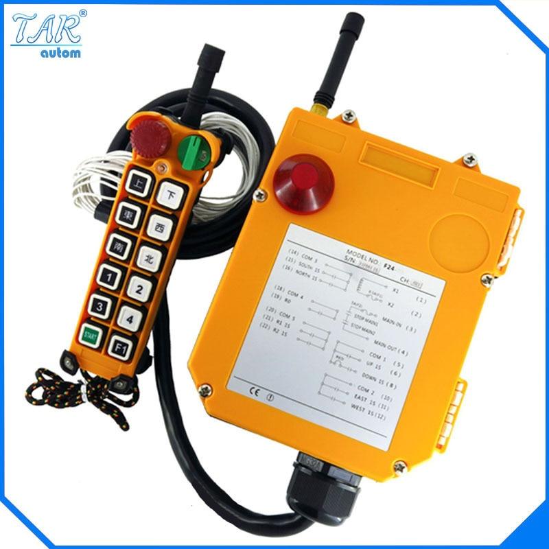 12 V AC/DC UHF425-446 MHZ 12 Canaux Industrielle Sans Fil Radio Télécommande F24-12S pour Palan Grue Contrôleur