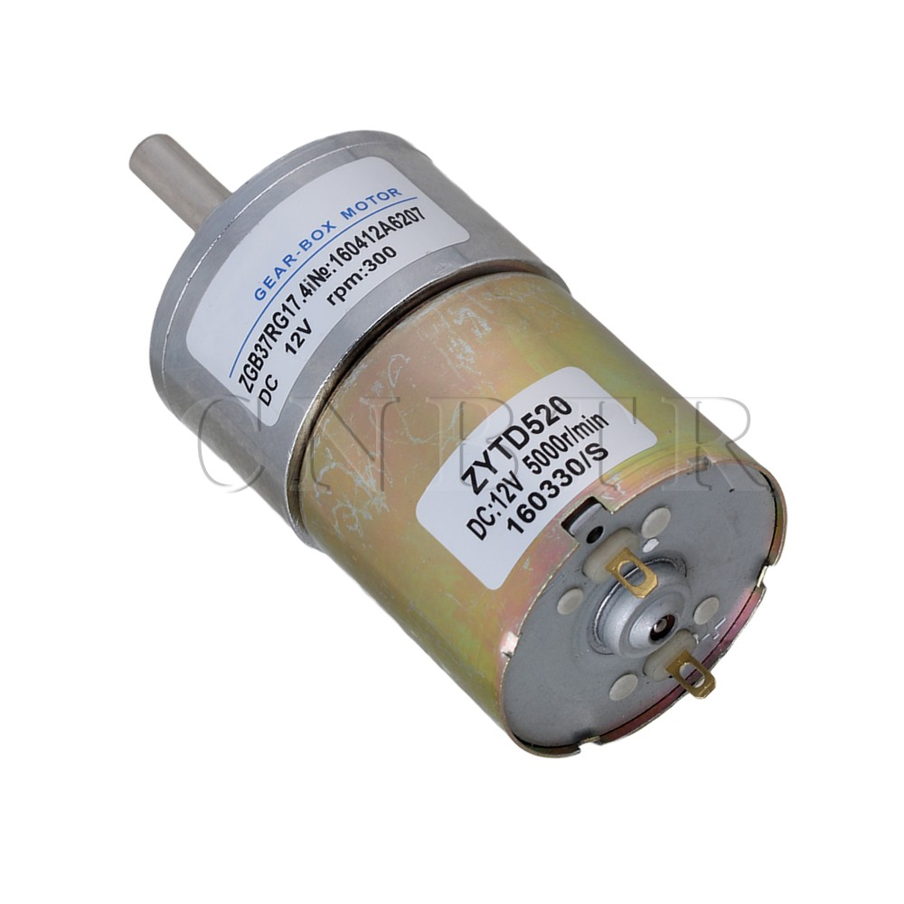 CNBTR High Torque 12V DC 300 RPM Gear-Box Electric Motor Replacement New 2pcs 12v 60 rpm 60rpm high torque gear box dc motor