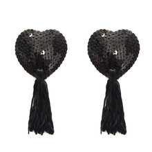 2pcs/set Sexy Self Adhesive Lingerie Sequin Tassel Nipple Cover Breast Pasties