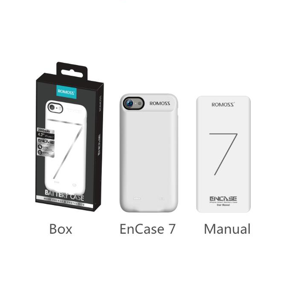 half off 77a4a 91835 US $29.07  ROMOSS Power Case 2800mAh ENCASE 7 Li polymer Battery 5V 2A  Phone Pack Battery Cover for iPhone7 Silicon Shell Power Bank Phone-in  Battery ...