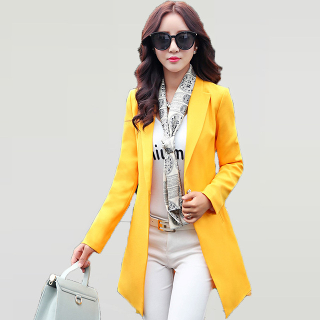 Aliexpress.com : Buy Business Casual Bright Color Blazer Women ...