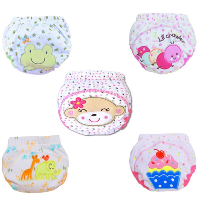 Cute Kids Nappy Cotton Underwear Training Pants Toilet Potty Baby Cloth Diaper Cover L07