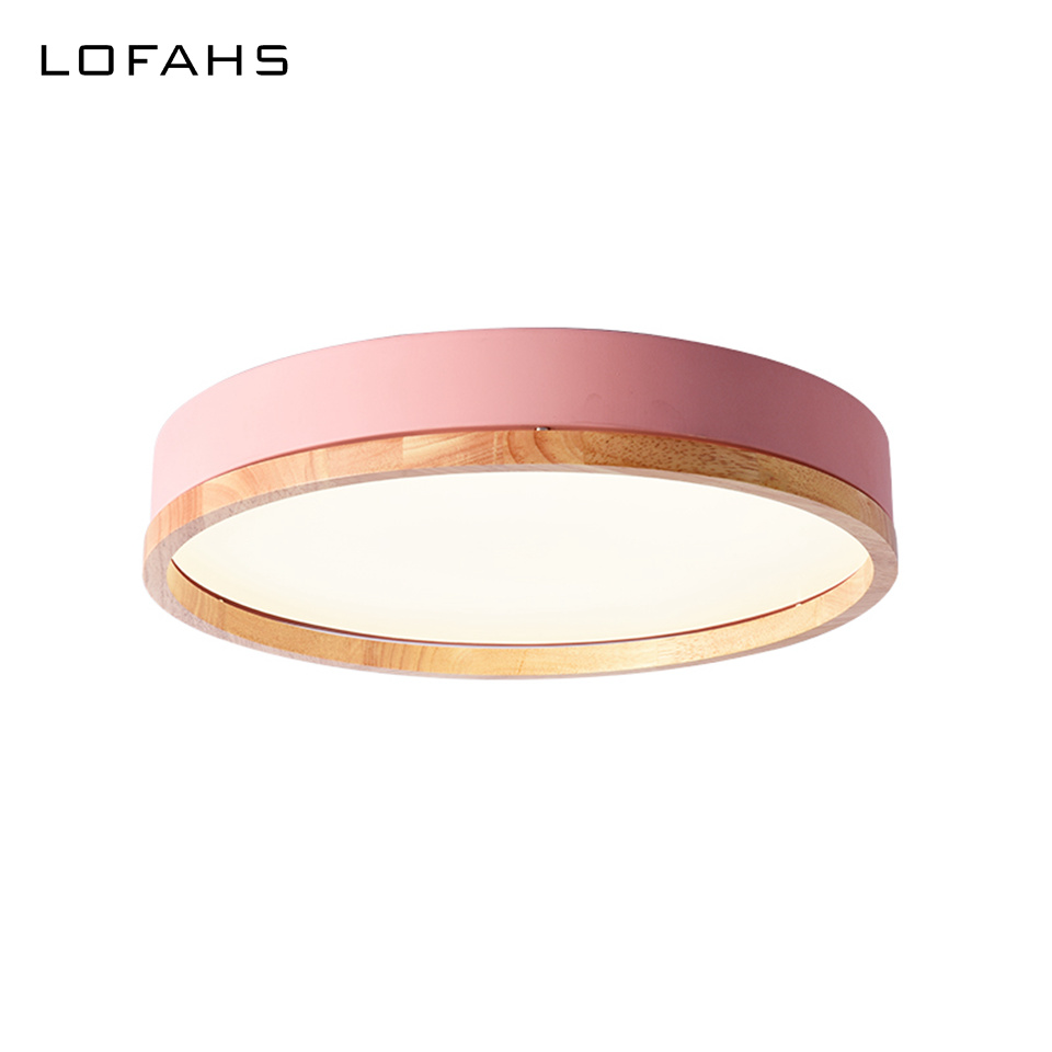 New Design LED Wood Ceiling Lights In Round Shape Remote Ceiling lamp For Bedroom Balcony Corridor Kitchen Fixtures LY-X102