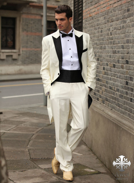 New Arrival 2017 Fashion Prom Suits for Men Wedding Party Men Dresses Custom Made (Coat + pants +belly belt )