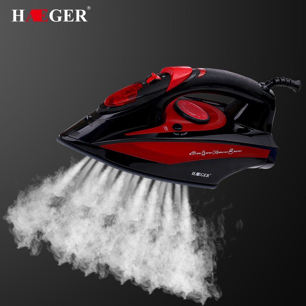 2400W High quality laundry home appliances Electric Steam Iron For Clothes Adjustable Ceramic soleplate iron for