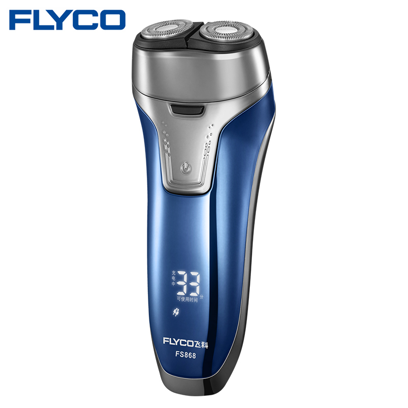 Flyco NEW Professional Voltage(100-240V) Electric Razor 2 independent floating heads Full Body washable Electric shaver FS868 6
