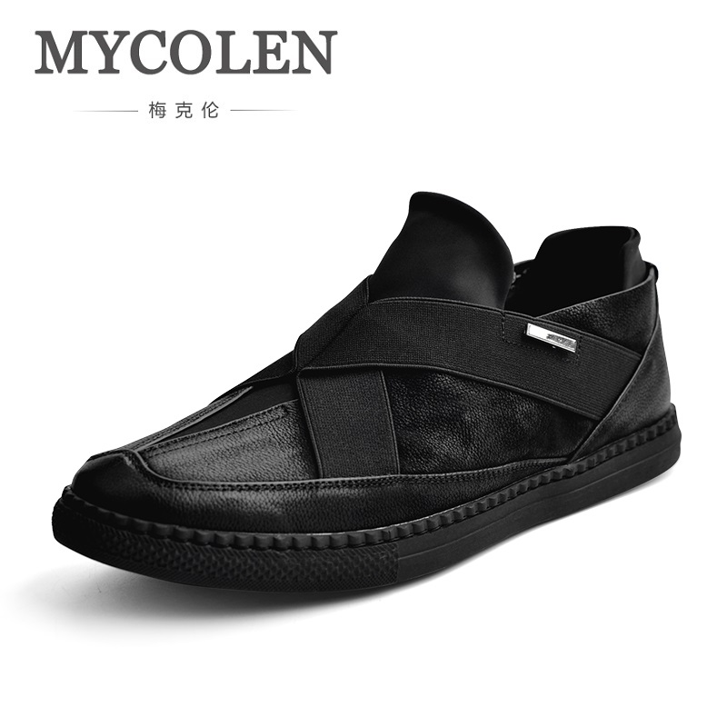 MYCOLEN The New Listing Casual Men Shoes Flats Teen Breathable Wear-Resistant Black Tide Personality Men Shoes Tenis Preto wear resistant casual men backpack