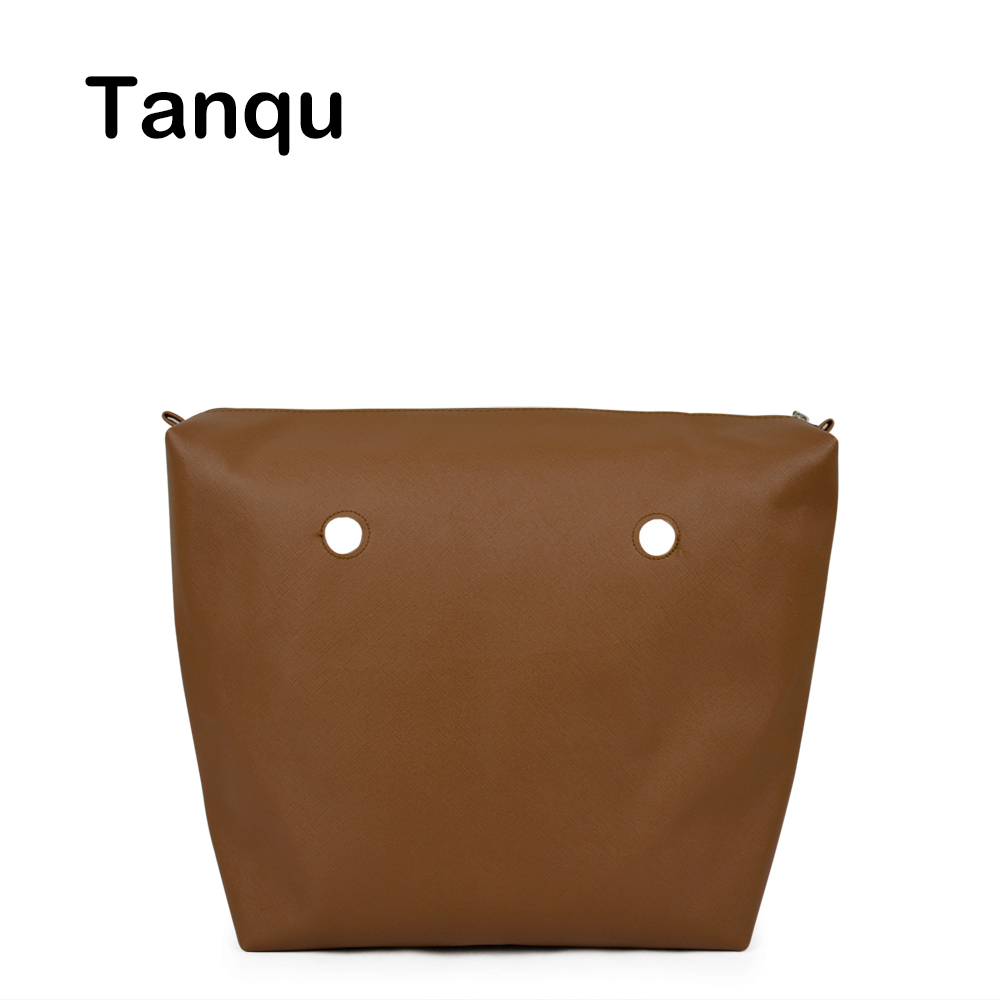 TANQU Mini PU Leather Waterproof Inner Lining Insert with Inner Zip Pocket for Obag Mini Lining Insert for O BAG 12mm waterproof soprano concert ukulele bag case backpack 23 24 26 inch ukelele beige mini guitar accessories gig pu leather
