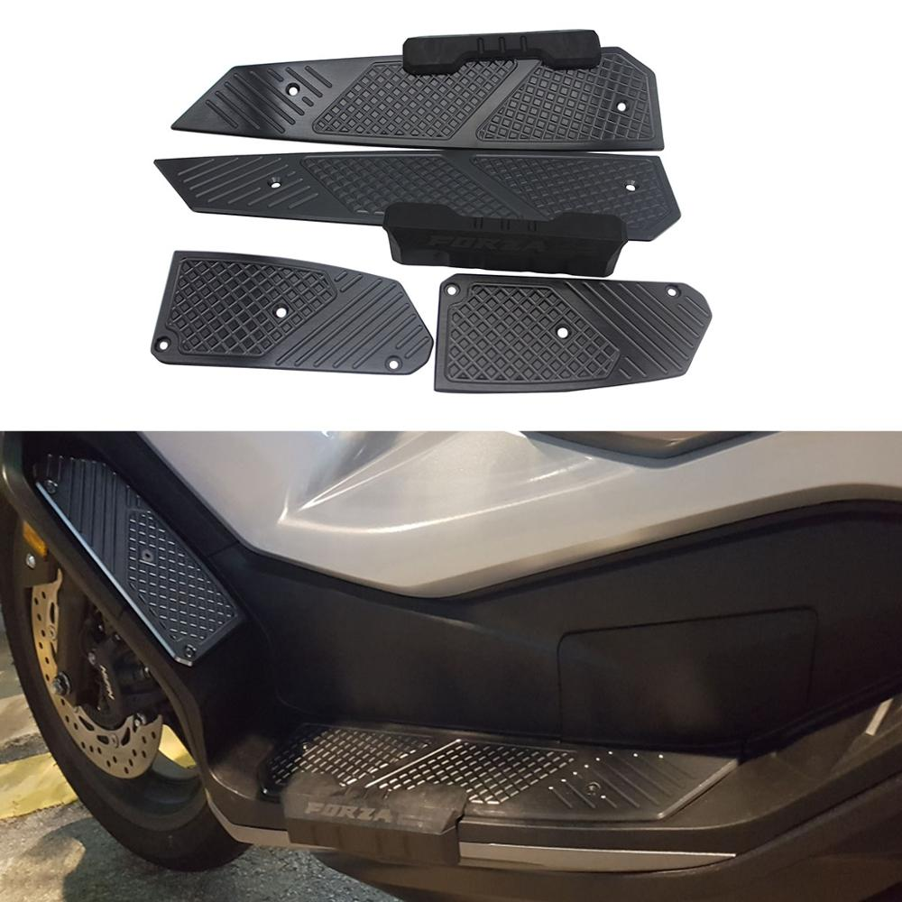 Motorcycle Accessoriess CNC Aluminum FORZA Footrest Footpads Pedals Plate For Honda Forza300 Forza250 Forza125 MF13 2018 2019
