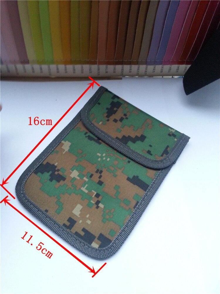 10 шт. сигнал блокирования военные камуфляж Чехол Остановить сотовый телефон GPS RFID отслеживания и подслушивания Privacy Protector излучения мобильн…