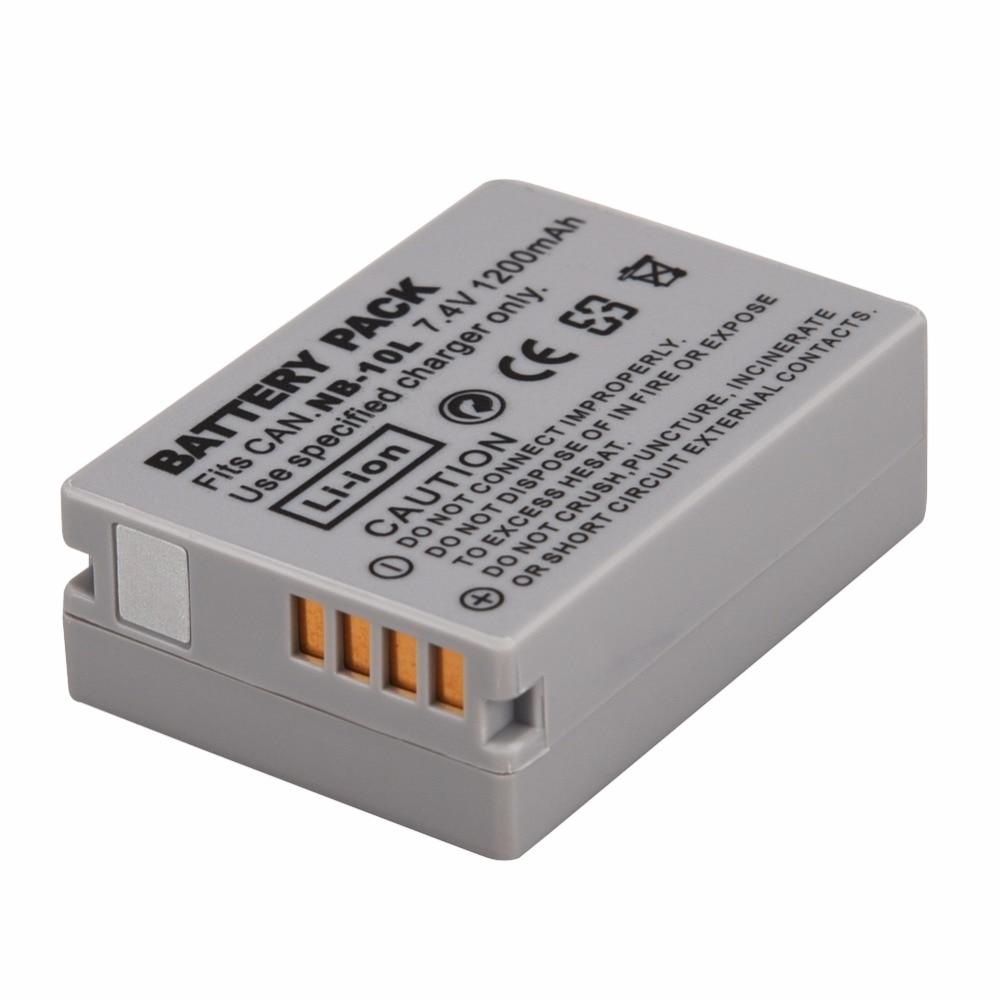 1Pcs 1200mAh NB-10L NB10L NB 10L Replacement Batteries Pack for Canon G1X G15 G16 SX40HS SX50HS SX60HS SX40 SX50 SX60 HS Bateria