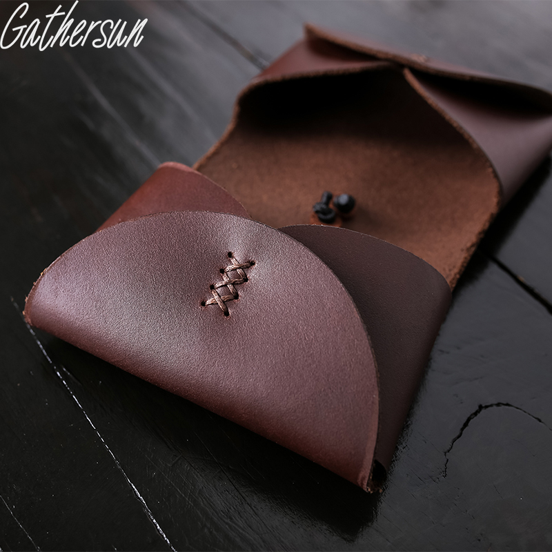 Gathersun brand handmade original design genuine leather business gathersun brand handmade original design genuine leather business card box cowhide ladies small wallet retro card package in wallets from luggage bags on reheart Image collections