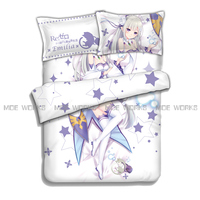 Re:Zero Starting Life in Another World Emilia Rem Ram Beatrice hot anime charming bedding set duvet cover bed sheet pillowcases