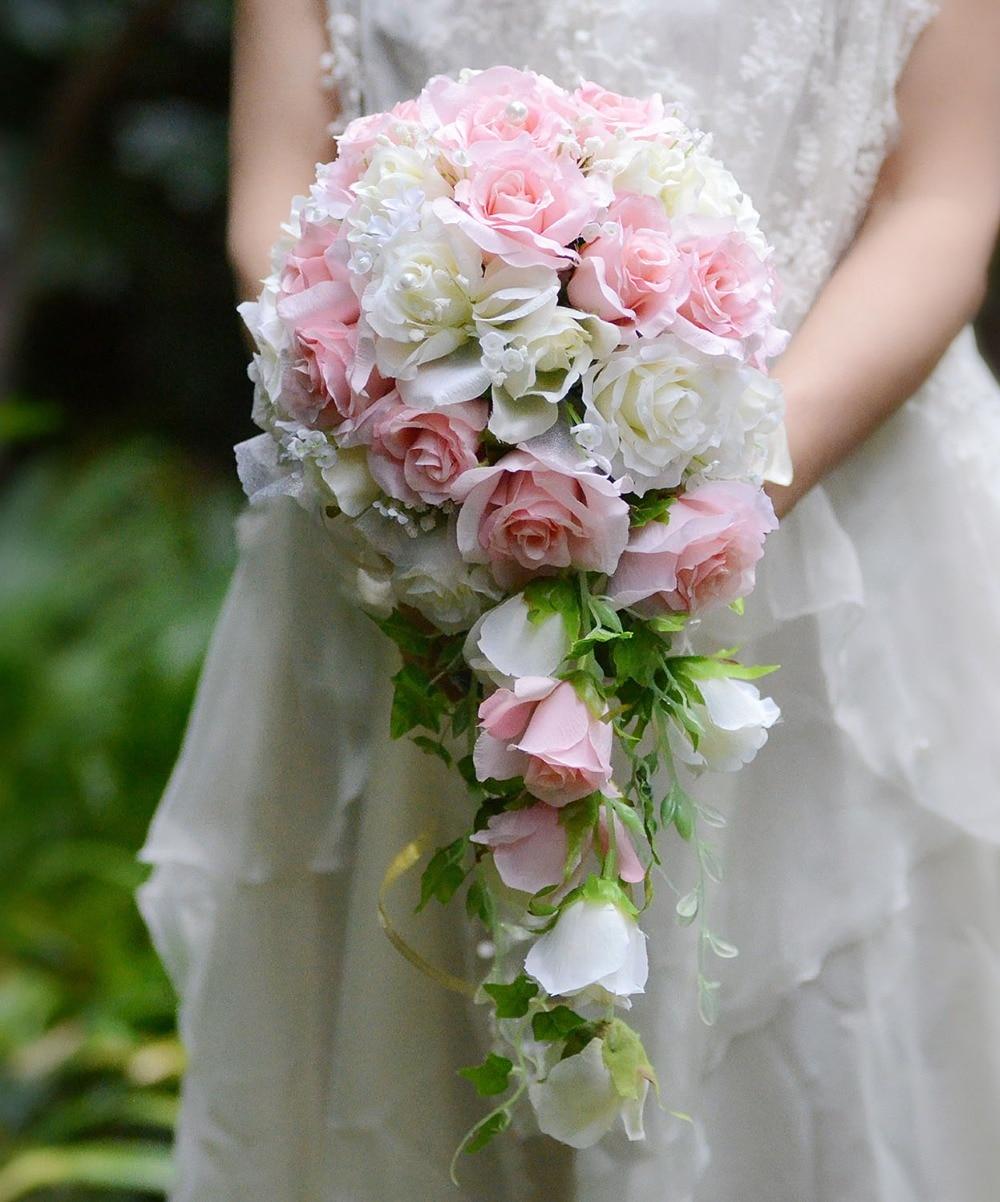 Aliexpress Buy Ayicuthia 2018 Waterfall Pink White Wedding