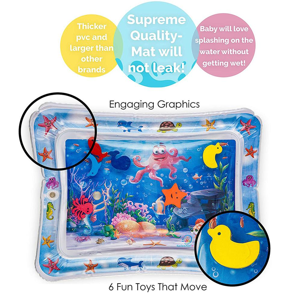 Lovely Baby Infants Inflatable Tummy Time Activity Water Play Mat Pad Toy Airtight Fun Game Tool Water Cushion Pad Summer Toy