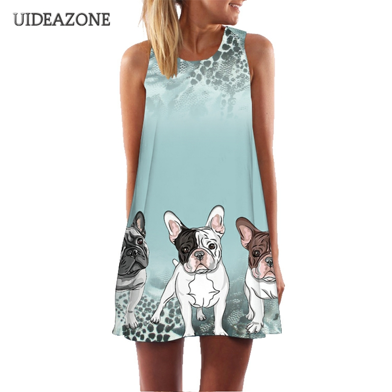 Kawaii Hunde Flamingo Dreamcatcher Print Frauen Kleid Boho Casual Vestidos Plus Größe S-3XL Sommer Lustige Cartoon Strand Kleider
