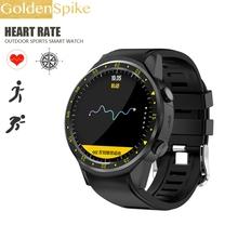 F1 zegarek GPS tętna tracker smart watch zegarek GPS podczas uruchamiania wielu tryb sportowe karty SIM krokomierz dla apple IOS Huawei Android tanie tanio Elektroniczny Passometer Czas światowy Uśpienia tracker 24 godzin instrukcji Tracker fitness Wiadomość przypomnienie