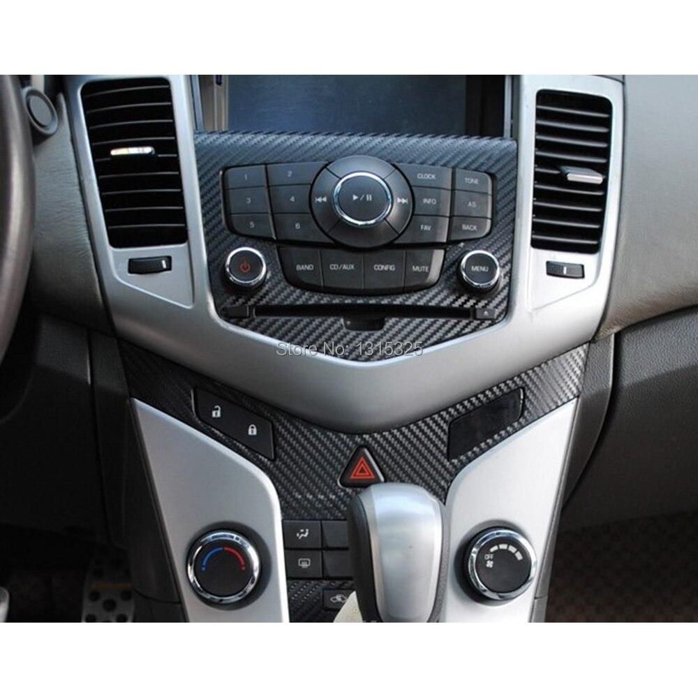 Car carbon sticker design - Carbon Fiber Vinyl Sticker Car Cd Control Panel Sticker Special Designed For Chevrolet Chevy Holden