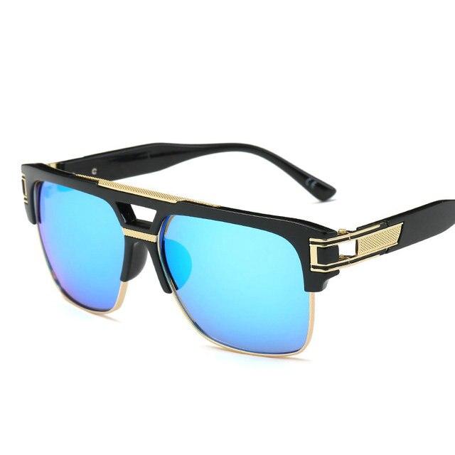 7fbdf299cb8 men fashion square sunglasses mirror shades big metal frame vintage brand sun  glasses women clear lens eyewear eyeglasses FML