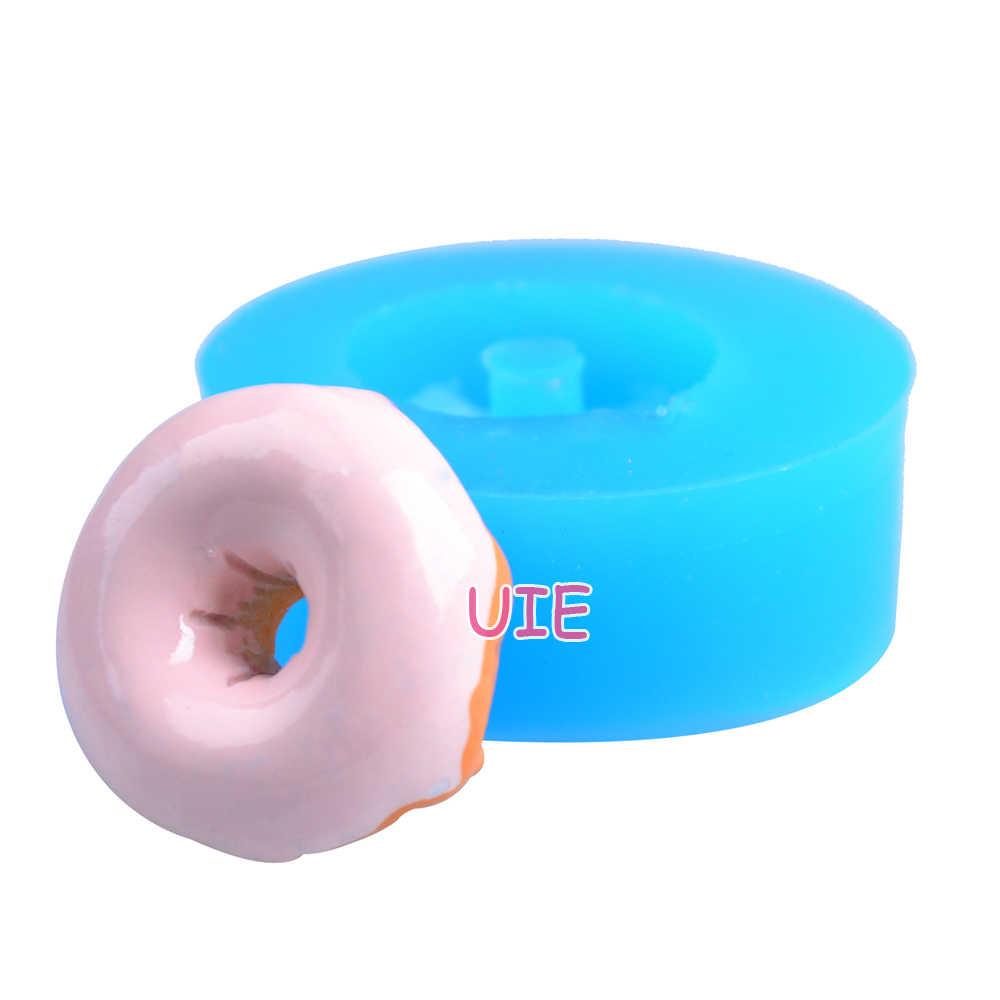 TYL004U Donut Form Donut Silikon Form Kuchen Fondant Mold Seife Luft Trocknen Polymer Clay Polymer Harz Cupcake