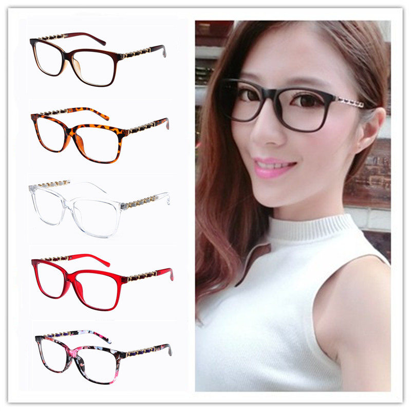 Chain Glasses Frames Women Stylish Square Frames Spectacles Lady ...