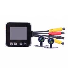 """Yeni varış C6 Mini boyutu 2.0 """"ekran dokunmatik anahtar su geçirmez çift kameralar GPS desteklenen araba Dash kamera motosiklet DVR"""