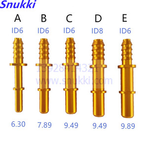 auto Fuel line quick connector with 6.30 7.89 9.49 9.89 ID6 ID8 universal general comon longer metal male connector 5pcs a lot(China)