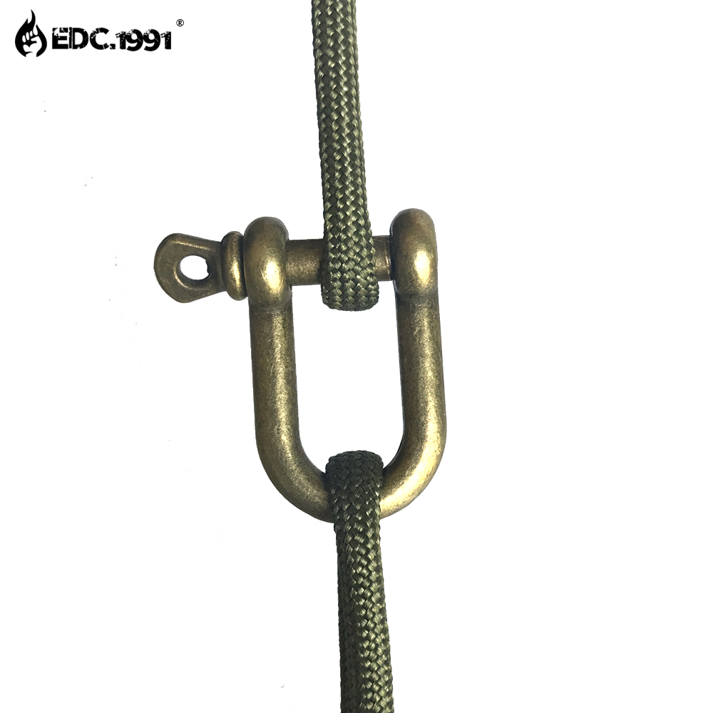EDC.1991 High quality Adjustable U Shape Anchor Shackle Outdoor Survival Rope Paracord Bracelet Buckle For Outdoor Sport