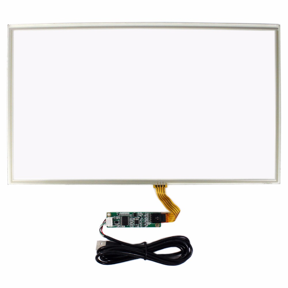 15.6 4 Wire Resistive Touch Panel USB Controller For 15.6inch LCD Screen 10 2inch 4 wire touch panel with usb controller card for 10 2 lcd screen