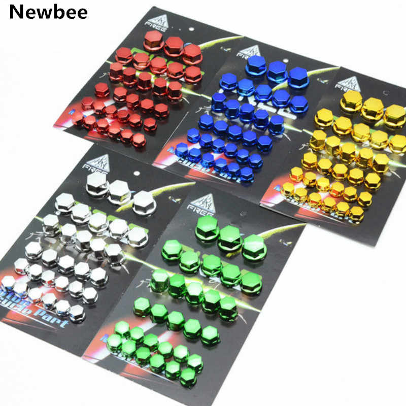 30PCS Motorcycle Screw Nut Bolt Cap Cover Decoration Centro Motorbike Ornamental Mouldings For Kawasaki Yamaha Honda  BMW