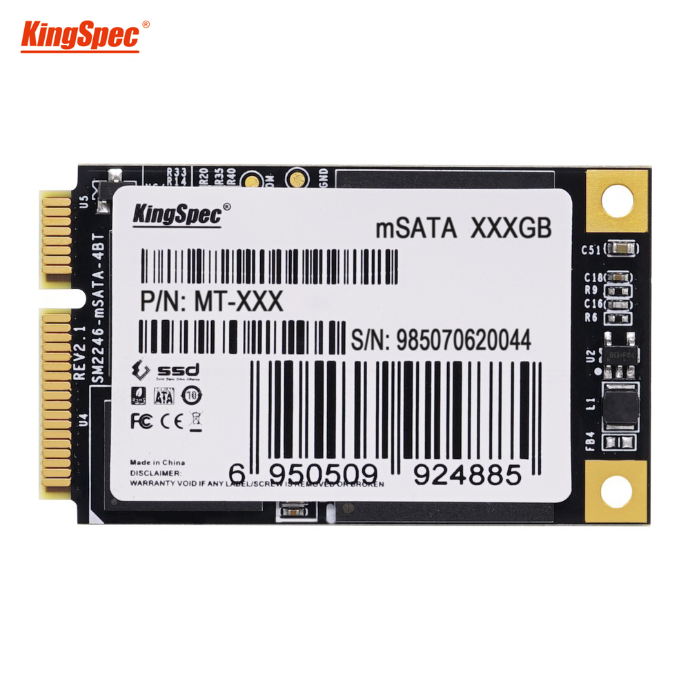 KingSpec mini PC internal msata 32GB 64GB 128GB 256GB msata SSD for ultrabook laptop Tablet Sata III 6Gbps Solid state hard Disk image