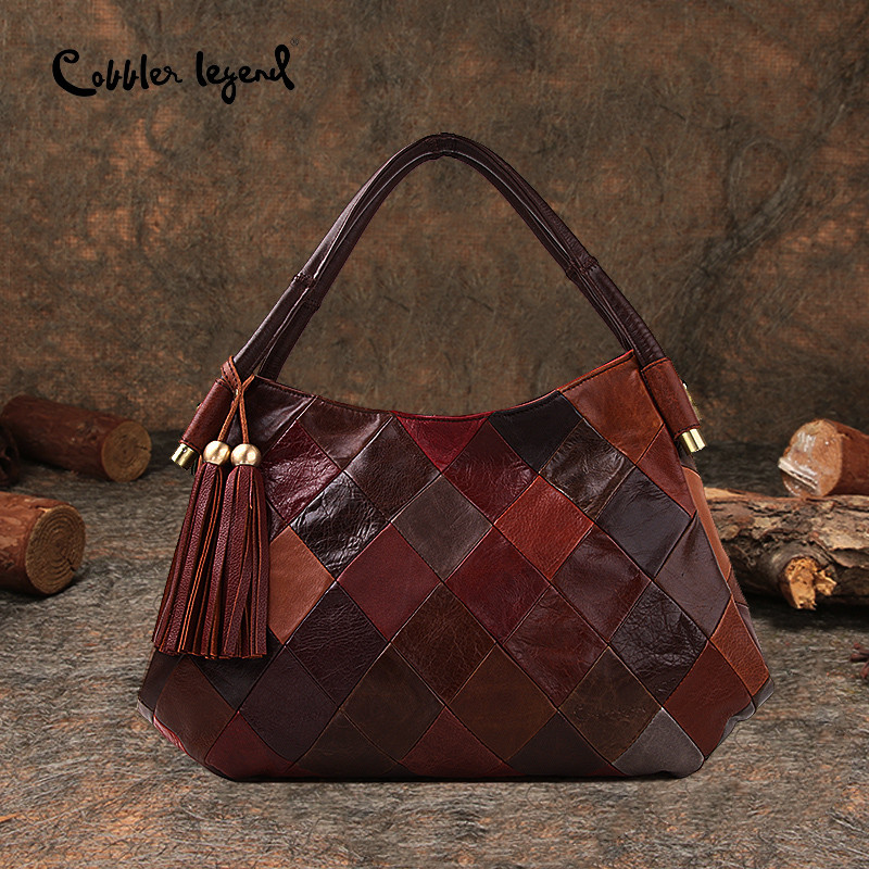 Cobbler Legend New Ladies 2018 Women Genuine Leather Handbag Cow Leather Tote Bag Bolsas Femininas Female Shoulder Bag Hand Bag женские блузки и рубашки hi holiday roupas femininas blusa blusas femininas