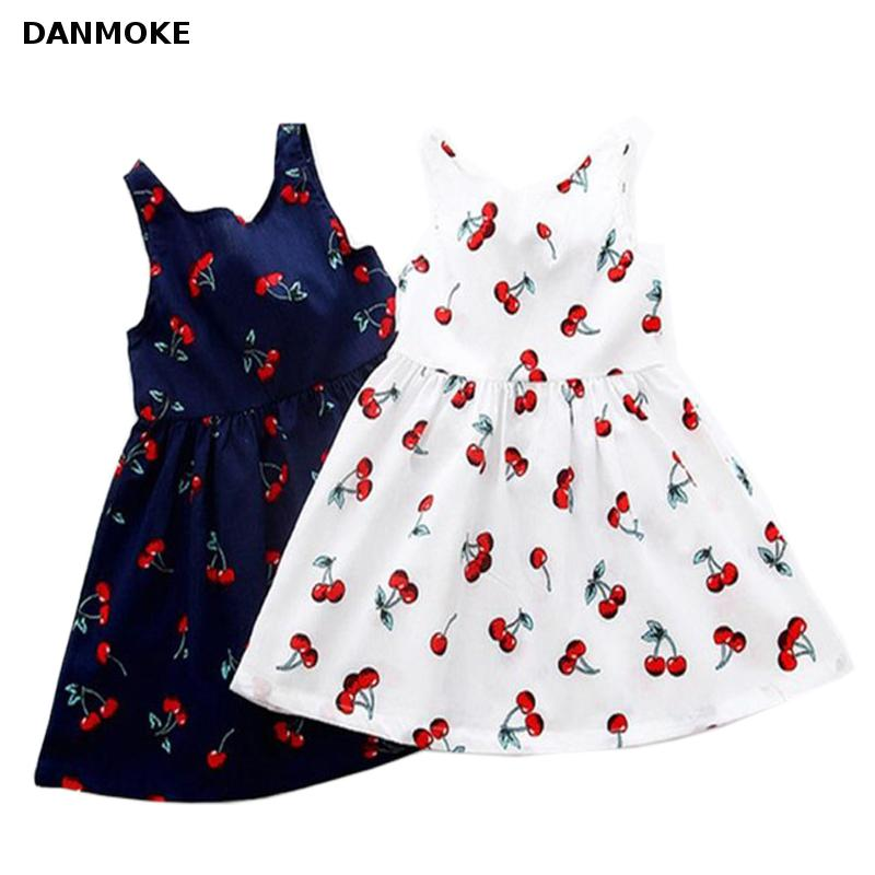 Danmoke 2-11Y Girls Dresses Summer 2017 Princess Dress Baby Girl Fashion Clothes Robe Fille Enfant Kids Dresses for Girls childrendlor baby brocade floral print toddler girl dress carretto 2017 a line princess dresses kids clothes robe fille enfant