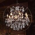 Лофт винтажный Американский Сельский креативный магазин одежды Ресторан железный подвесной светильник хрустальное кольцо