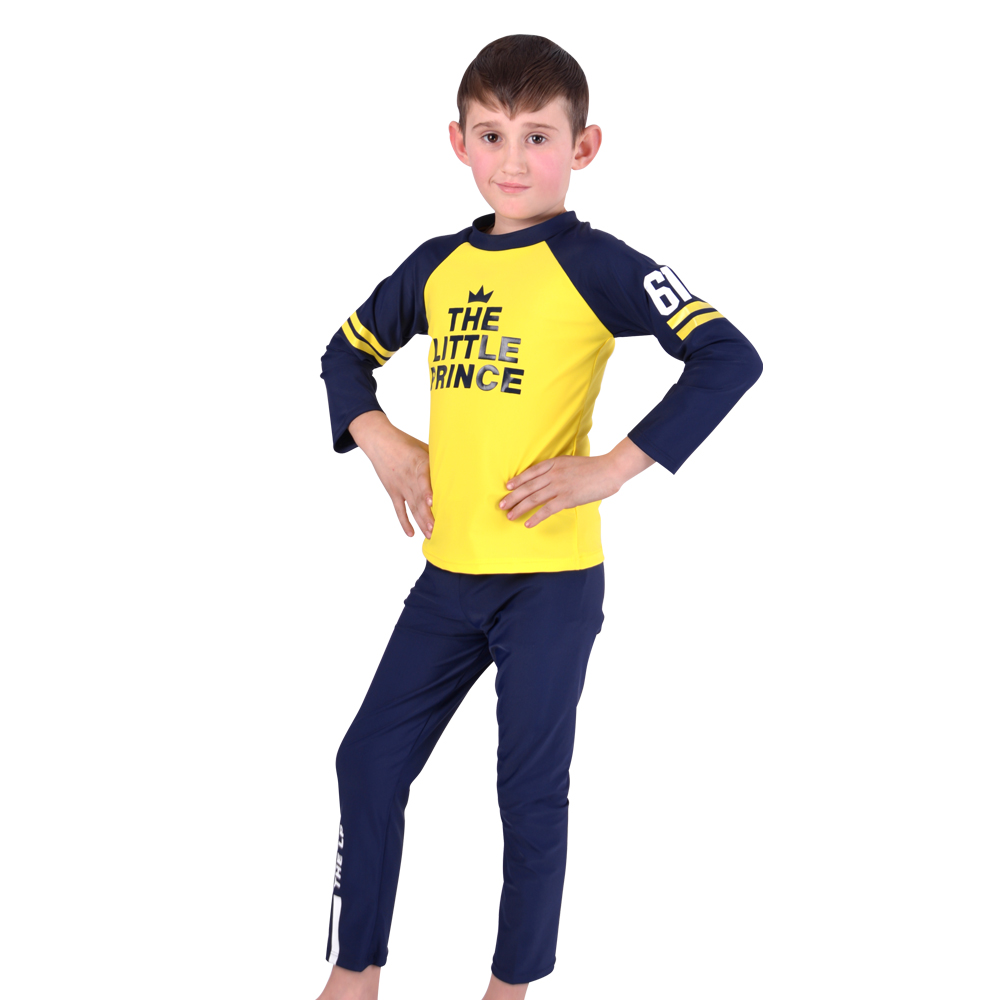 Two Pieces Suits Swimming Suit Boys Swimsuit Long Sleeves Bathing Suits for Children Beach Wear Little Kids Swim suit 9 16y girls large size swimsuits two pieces girls bikini suits beach wear children girls bathing suits lovely swimsuit g1 k370