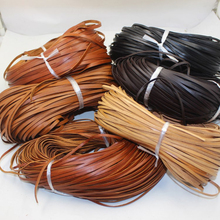 цены 2meters/Roll 4 Colors 2mm/3mm/4mm/5mm/6mm/8mm/10mm Flat Genuine Cow Leather Cords Fit Leather Bracelet Jewelry Making Findings