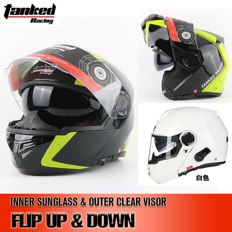 все цены на German Tanked racing full face helmet moto adult mens cascos capacete motorcycle helmet Flip up helmet cross motocross helmets