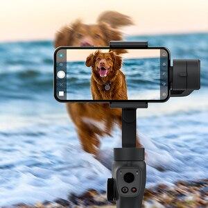 Image 4 - Funsnap Caputure 2 Smartphone 3 Axis Gimba eylem kamera Gimbal IOS android için Gopro 7 6 5 EKEN Yi Gimbal kiti ile LED mikrofon