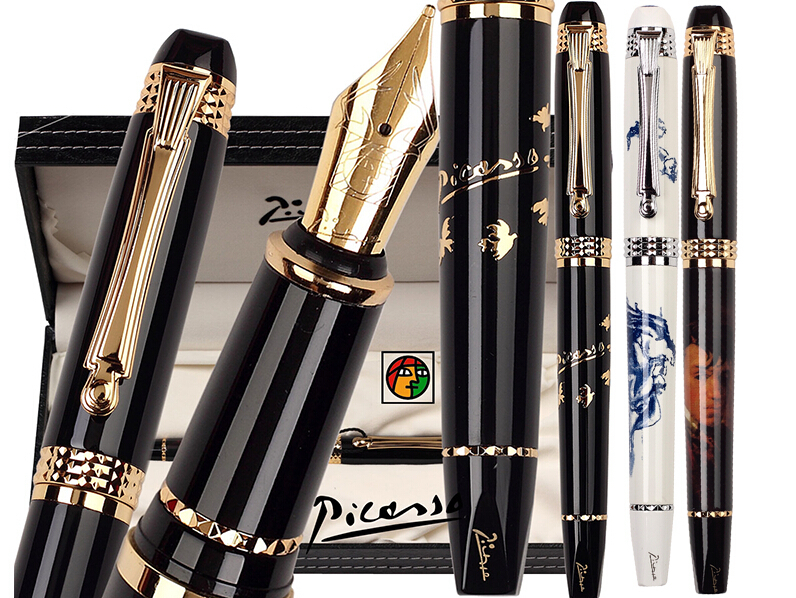 Fountain Pen  M Nib 22kgp  or RollerBall pen  Picasso 926 school and office stationery Free Shipping fountain pen curved nib or straight nib to choose hero 6055 office and school calligraphy art pens free shipping
