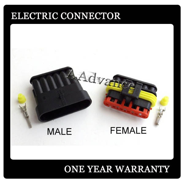 6 Way AMP Superseal Male Female Connectors For 18